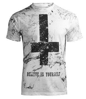 koszulka AMENOMEN - BELIEVE IN YOURSELF (OMEN003KM WHITE ALLPRINT BLACK)