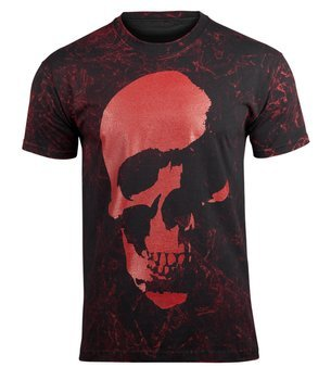 koszulka AMENOMEN - SKULL (OMEN035KM BLACK ALLPRINT RED)