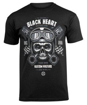 koszulka BLACK HEART - PISTON SKULL BLACK