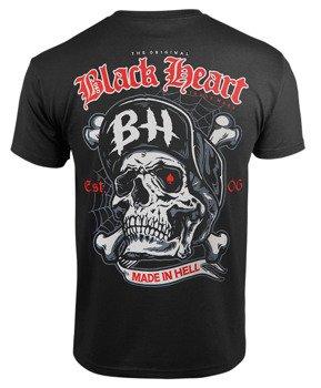 koszulka BLACK HEART - SKULL BONES BLACK