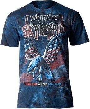 koszulka LYNYRD SKYNYRD - TRUE RED, WHITE & BLUE, barwiona
