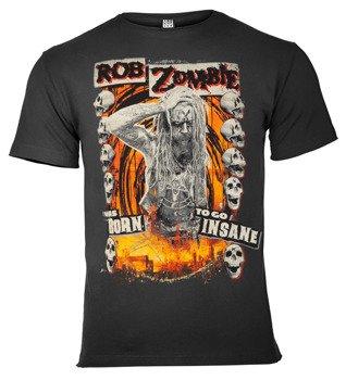 koszulka ROB ZOMBIE - BORN INSANE ciemnoszara