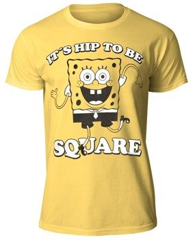 koszulka SPONGEBOB - HIP TO BE SQUARE