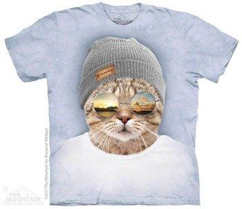 koszulka THE MOUNTAIN - COOL HIPSTER CAT, barwiona