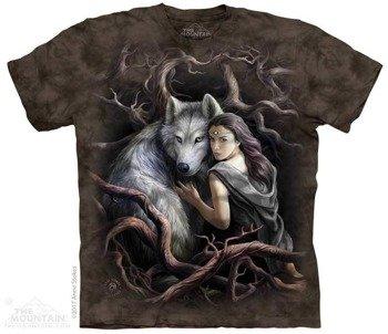 koszulka THE MOUNTAIN - SOUL BOND WOLF, barwiona