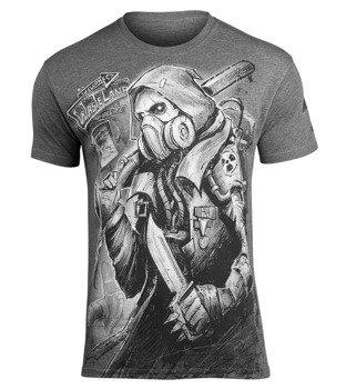 koszulka WASTELAND - POST-APOCALYPSE ciemnoszary melanż