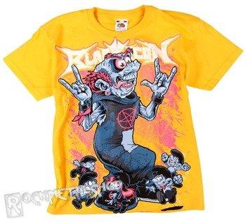 koszulka dziecięca BLACK ICON - SMURFS żólta