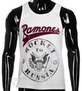 koszulka na ramiączka RAMONES - ROCKET TO RUSSIA, biała