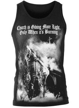 koszulka na ramiączkach AMENOMEN - CHURCH IS GIVING MORE LIGHT, ONLY WHEN IT'S BURNING (OMEN140KR)