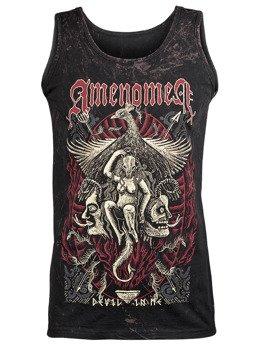 koszulka na ramiączkach AMENOMEN - DEVIL IN ME (OMEN150KR ALLPRINT BROWN)