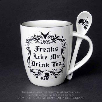 kubek i łyżeczka FREAKS LIKE ME DRINK TEA