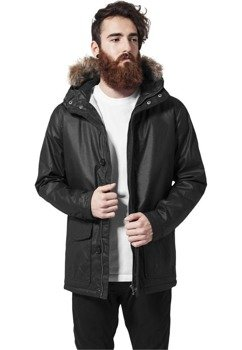 kurtka COATED COTTON PARKA black