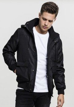 kurtka HEAVY HOODED JACKET black