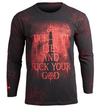 longsleeve AMENOMEN - FUCK YOUR LIES (OMEN084LO ALLPRINT RED)