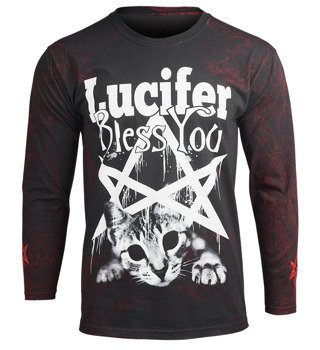 longsleeve AMENOMEN - LUCIFER BLESS YOU (OMEN090LO ALLPRINT RED)