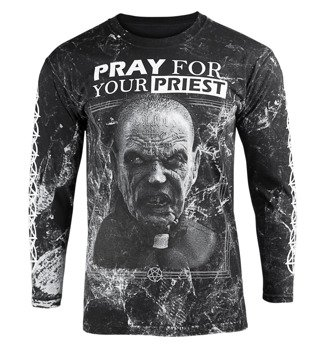 longsleeve AMENOMEN - PRAY FOR YOUR PRIEST (OMEN147LO ALLPRINT WHITE)