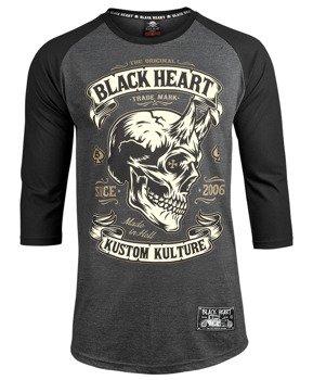 longsleeve BLACK HEART - DEVIL SKULL, rękaw 3/4