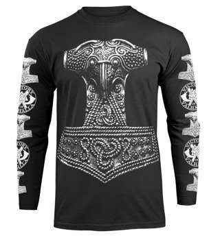 longsleeve VICTORY OR VALHALLA - THOR'S HAMMER
