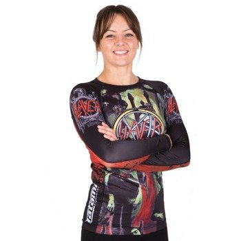 longsleeve damski SLAYER - TATAMI REING IN BLOOD RASH GUARD, techniczny
