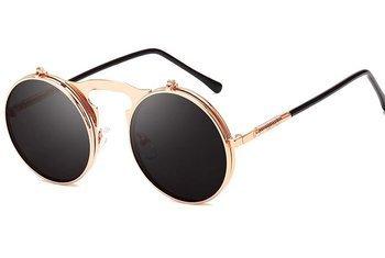 okulary LENONKI STEAMPUNK GOLD, otwierane