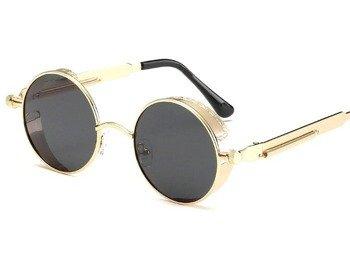 okulary LENONKI STEAMPUNK RETRO RAY GOLD BLACK