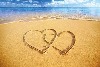 plakat BEACH - HEARTS