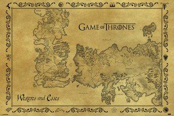 plakat GAME OF THRONES - ANTIQUE MAP