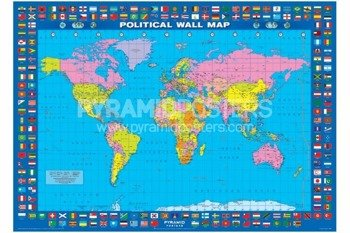plakat POLITICAL WORLD MAP