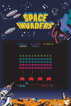 plakat SPACE INVADERS - SCREEN