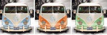 plakat VW CAMPER - TRIPTYCH
