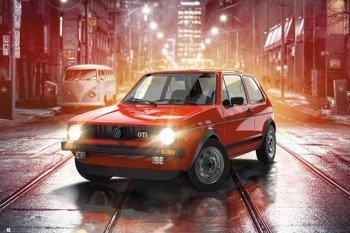 plakat VW  GOLF - GTI