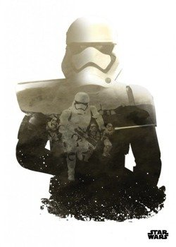 plakat z metalu STAR WARS - TROOPER