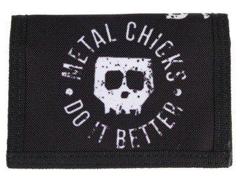 portfel METAL CHICKS DO IT BETTER - SKULL