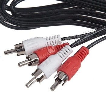 przewód audio 2 x RCA (cinch) - 2 x RCA (cinch) / 2,5m