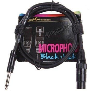 przewód mikrofonowy BOSTON: XLR -  DUŻY JACK STEREO (6.3mm) / 1m