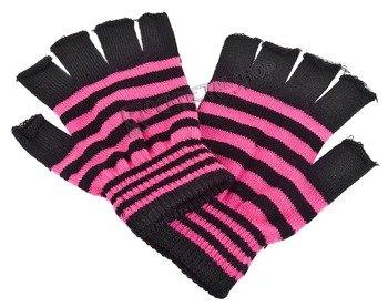 rękawiczki POIZEN INDUSTRIES - BLACK PINK, bez palców