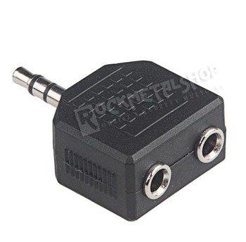 rozgałęźnik do słuchawek JACK 3,5 mm stereo - 2x gniazdo JACK 3,5 mm stereo