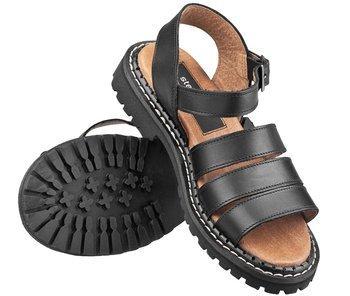 sandały damskie (glandały) STEADY'S czarne (STE/ROCK/4)