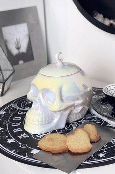 słoik na ciastka KILLSTAR - SKULL (white aura)
