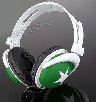 słuchawki HEADPHONE STAR WHITE/GREEN (92005-006-000) [SMB-001]