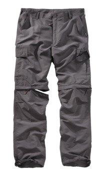 spodnie TREKKING - QUICKDRY antracytowe, USZKODZONE