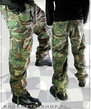 spodnie bojówki AIRBORNE VINTAGE FATIGUES WOODLAND