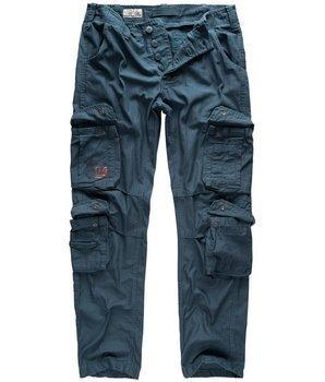 spodnie bojówki AIRBORNE VINTAGE TROUSERS SLIMMY NAVY