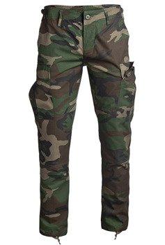 "spodnie bojówki US BDU FELDHOSE R/S ""SLIM FIT"" WOODLAND"