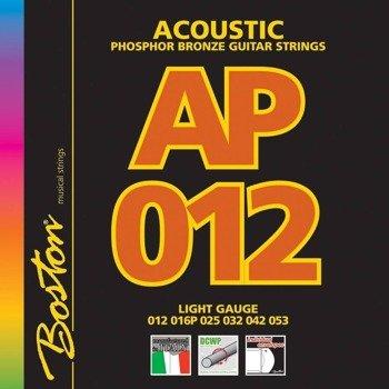 struny do gitary akustycznej BOSTON AP-12 PHOSPHOR BROZNE /012-053/