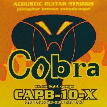 struny do gitary akustycznej COBRA CAPB-10-X PHOSPHOR BRONZE /010-047/