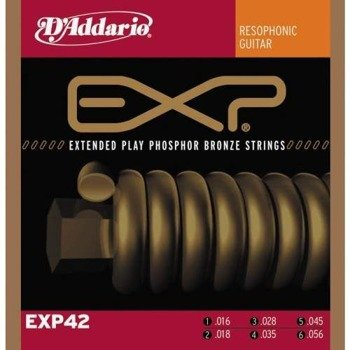 struny do gitary akustycznej D'ADDARIO - Resophonic EXP42 /016-056/