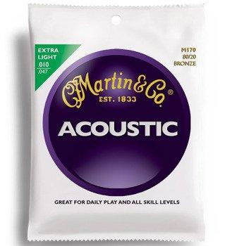 struny do gitary akustycznej MARTIN M170 - 80/20 BRONZE Extra Light /010-047/