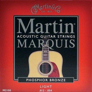 struny do gitary akustycznej MARTIN M2100 MARQUIS - 80/20 BRONZE Light /012-054/