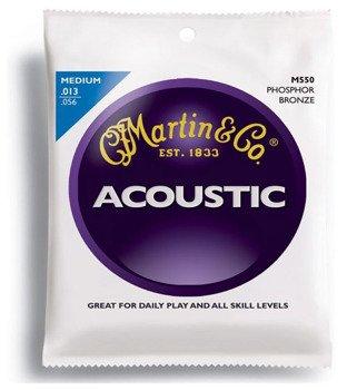 struny do gitary akustycznej MARTIN M550 - PHOSPHOR BRONZE 92/8 Medium /013-056/